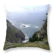 Soaring Over The Cliffs Throw Pillow