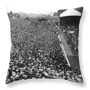 Soccer Crowd At Highbury Throw Pillow