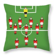 Soccer Team Football Players Throw Pillow