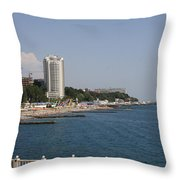 Sochi Bathing Resort At The Black Sea Throw Pillow