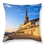 Sochi Sea Port Throw Pillow
