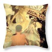 Social Evil Throw Pillow