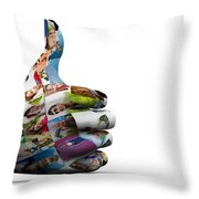 Social Media People Painted Hand In Ok Sign Throw Pillow