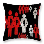 Social Responsibility 1 Part 1 Throw Pillow by Angelina Vick