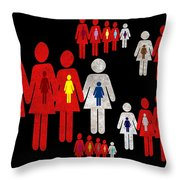 Social Responsibility 1 Part 3 Throw Pillow by Angelina Vick