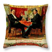 Social Smoke Vintage Cigar Advertisement Throw Pillow