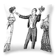 Society Hypnotist, 1900 Throw Pillow