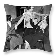Society Women In Benefit Play Throw Pillow