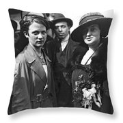 Society Women In Steerage Throw Pillow