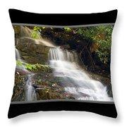 Soco Falls Small Cascade North Carolina Throw Pillow