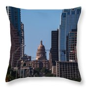 So Co View Of The Texas Capitol Throw Pillow