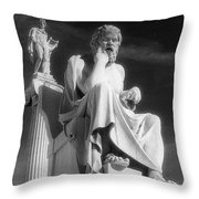 Socrates And Apollon Throw Pillow