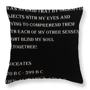 Socrates Quote In Negative Throw Pillow