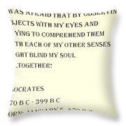 Socrates Quote In Sepia Throw Pillow