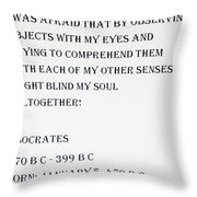 Socrates Quote Throw Pillow