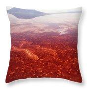 Soda And Algae Formation On Lake Natron Throw Pillow