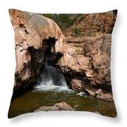 Soda Dam In New Mexico Throw Pillow