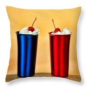 Soda Fountain Joy Throw Pillow