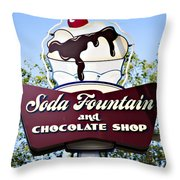 Soda Fountain Throw Pillow