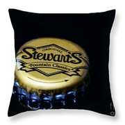 Soda - Stewarts Root Beer Throw Pillow by Paul Ward