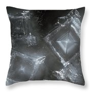 Sodium Hydroxide Crystals Throw Pillow