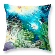 Sodium Thiosulphate Microcrystals Color Abstract Throw Pillow