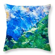 Sodium Thiosulphate Microcrystals Colorful Art Throw Pillow