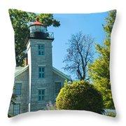 Sodus Pt Light House Throw Pillow