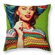 Sofia Loren Throw Pillow