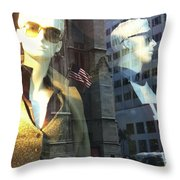 Sofie And Harry In Shades Throw Pillow
