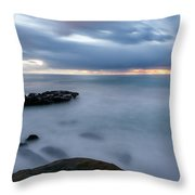 Soft And Blue Throw Pillow