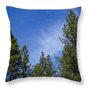 Soft And Gentle Sky Throw Pillow