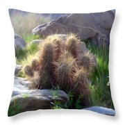 Soft And Sharp Throw Pillow by Snake Jagger