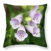 Soft And Silky Laced Gloves Throw Pillow