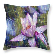 Water Lily Photography Tender Moments  Throw Pillow