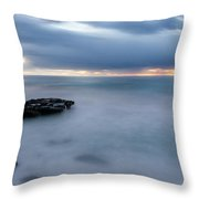 Soft Blue And Wide Throw Pillow