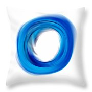 Soft Blue Enso - Abstract Art By Sharon Cummings Throw Pillow