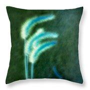 Soft Blue Grass Throw Pillow