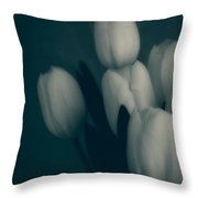 Soft Blue Tulips Throw Pillow