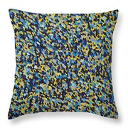Soft Blue With Yellow Throw Pillow