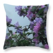 Soft Blues And Pink - Spring Blossoms Throw Pillow