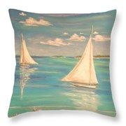 Soft Breeze Throw Pillow by The Beach  Dreamer