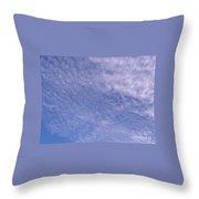 Soft Clouds Blue Sky Throw Pillow