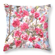 Soft Colors Of Spring Throw Pillow