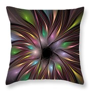 Soft Colors Of The Rainbow Throw Pillow