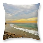 Soft Colors On The Coast Throw Pillow by Lynn Bauer