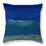 Soft Crashing Waves- Abstract Landscape Throw Pillow