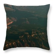 Soft Early Morning Light Over The Grand Canyon 2 Throw Pillow
