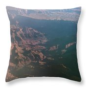 Soft Early Morning Light Over The Grand Canyon Throw Pillow