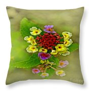 Soft Floral Duvet Cover Throw Pillow